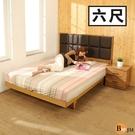 床組《百嘉美》拼接木紋系列雙人6尺日式房間組2件組/床頭+日式床底 BE019-6