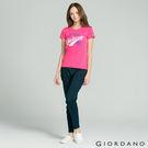 【GIORDANO】女裝腰鬆緊修身休閒卡其褲(66 標誌海軍藍)
