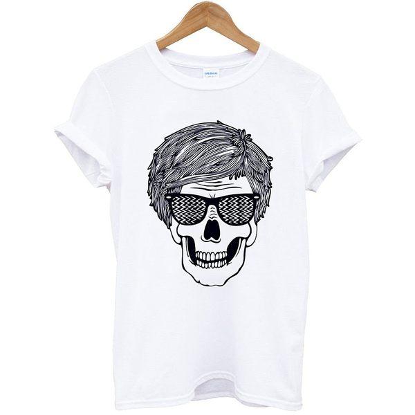 Andy Warhol-Skull BW 短袖T恤-白色 安迪沃荷普普藝術POP街頭紐約設計插畫潮流相片照片藝術290