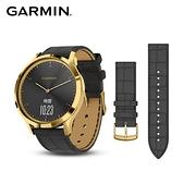【GARMIN】 vivomove HR 智慧指針錶-金漾黑