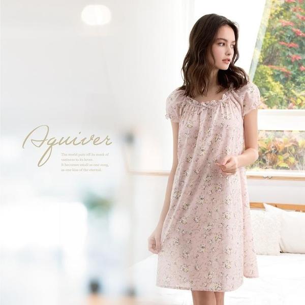 【南紡購物中心】ROSEMAID羅絲美 小花漾短袖洋裝睡衣11107