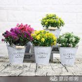 仿真花客廳綠植假花 玫瑰花束餐桌花藝室內假盆栽擺設裝飾花 擺件 原野部落