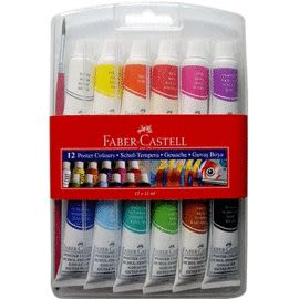 Faber-Castell12色廣告水彩顏料* 121011