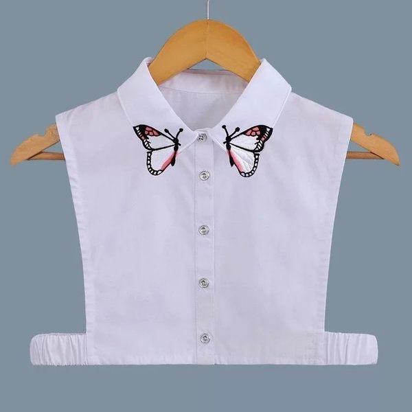 假領子假領片韓版假衣領 可愛蝴蝶 帽T洋裝襯衫針織大學T外套內搭 白色[E1406]  預購.朵曼堤洋行