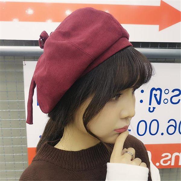 萬聖節快速出貨-韓版帽子女春季可愛貝雷帽