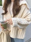 日系毛衣女學院風校園秋冬外穿韓版百搭寬鬆慵懶長袖針織開衫外套 米娜小铺