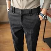 西裝褲 男冬季韓版修身男士商務休閒褲加厚潮西裝褲小腳褲子 3色