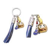 【貓粉選物】貓粉鑰匙圈 金色達摩 藍色流蘇