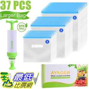 [8美國直購] 食品儲物袋 Sous Vide Bags 30 Reusable Vacuum Food Storage Bags for Sous Vide, 3 Sizes
