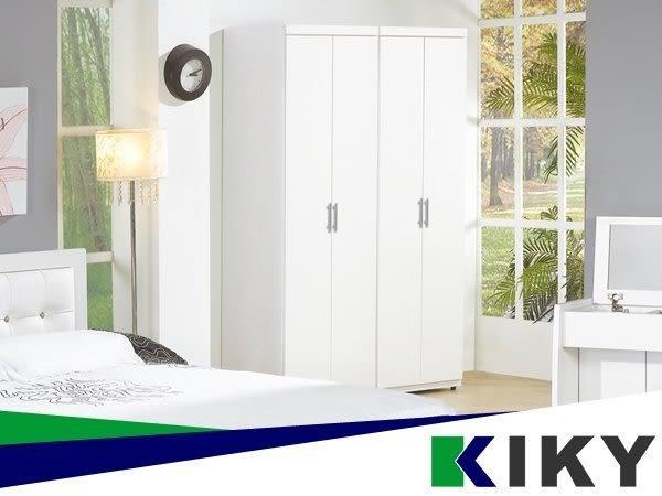 【KIKY】愛美時尚2尺雙吊開門衣櫃/衣櫥(專人搬運免組裝)另有化妝鏡台/床架~wardrobe