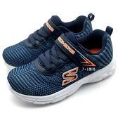 《7+1童鞋》中小童 SKECHERS 95030NBKW 輕量 透氣 慢跑鞋 運動鞋 B988 藍色