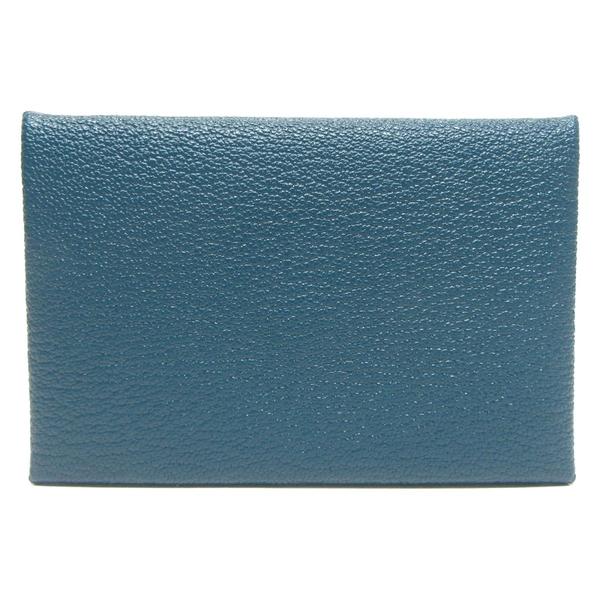 HERMES 愛馬仕 伊斯坦堡海峽綠釦式對折名片夾 Calvi Verso Card Holder【BRAND OFF】