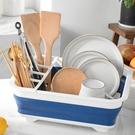 餐具架 可折疊瀝水架水槽碗碟架水龍頭置物架洗碗池放碗架碗筷收納盒餐具【快速出貨八折搶購】