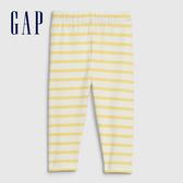 Gap女幼童 柔軟舒適條紋緊身褲 576782-黃色條紋