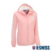 K-SWISS Solid Windbreaker 2刷毛風衣外套-女-粉紅