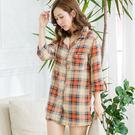 加價購-個性格紋版大襯衫(橘格)