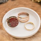 古老傳說紅月亮星星圖騰古銅戒指組三件組~r1501015 ~