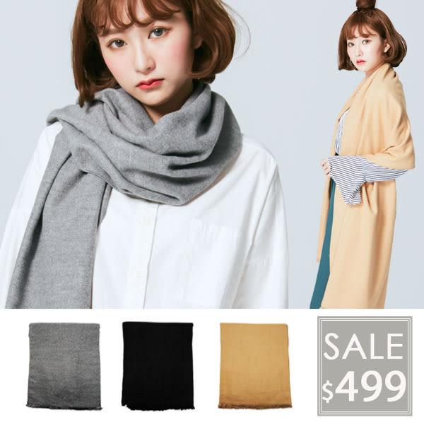 OT SHOP圍巾‧溫暖素色款仿羊絨混毛料圍巾披肩中性簡約觸感超好‧黑色/灰色/卡其色現貨D1810