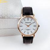 父親節 男士手錶皮帶簡約時尚休閒中年人老年人爸爸大氣金錶石英錶潮 芭蕾朵朵