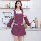 圍裙 防水圍裙女純棉公主家用廚房做飯韓版時尚餐廳背帶式做飯防油罩衣【快速出貨八折搶購】