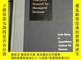 二手書博民逛書店Operations罕見Research for managerial decisions(管理決策的運籌學)