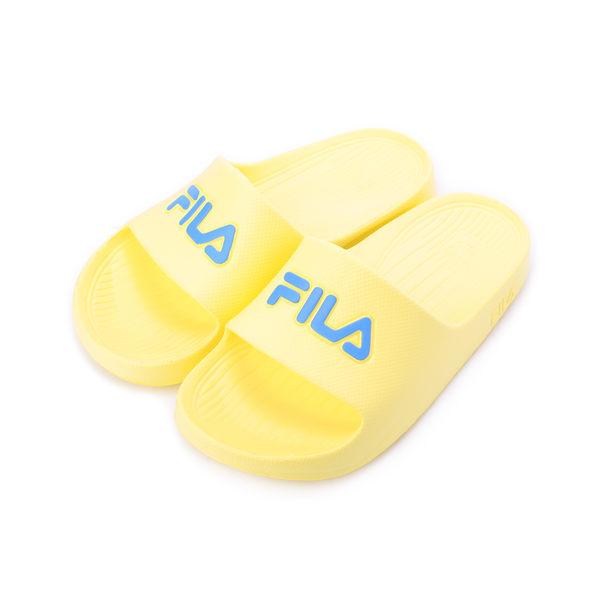 FILA 一體成型套式拖鞋 粉黃 4S355R-773 女鞋 鞋全家福