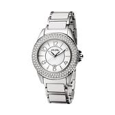 【Folli Follie】Glow 維多利亞晶鑽陶瓷腕錶-亮銀白/WF6A067BDW_XX/台灣總代理公司貨享兩年保固