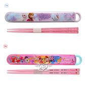 日本製冰雪奇緣迪士尼公主筷子筷盒餐具組 2選1 07287671【77小物】