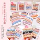 韓版碎花格子小腸髮圈5條/組 顏色隨機