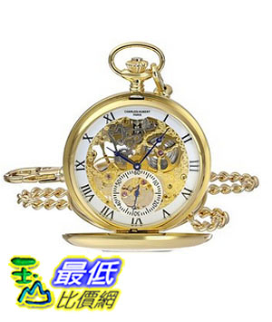 [美國直購] 手錶 Charles-Hubert, Paris 3972-G Premium Collection Analog Display Mechanical Hand Wind Pocket Watch