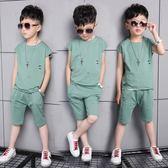 男童套裝新款1童裝3-5周歲7兒童夏裝2男童短袖套裝 mc6753『優童屋』