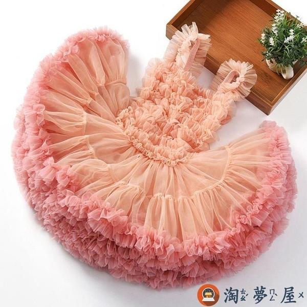 女童蓬蓬裙秋公主裙寶寶連身裙兒童禮服嬰兒網紗裙兒童洋裝【淘夢屋】