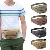 新款腰包男多功能大容量帆布生意收錢包戶外運動手機腰包實用耐磨