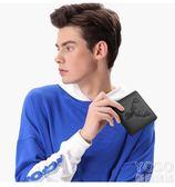 錢包 男士錢包短款韓版繡花圖案頭層牛皮青年學生手工錢夾  『優尚良品』