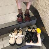 娃娃鞋-小皮鞋女學生韓版百搭大頭鞋復古日繫軟妹娃娃單鞋潮 花間公主