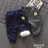寶寶加絨褲子男童冬裝0-1歲3兒童棉褲加厚外穿秋冬小童嬰兒加絨褲