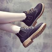 新款秋冬馬丁靴女英倫風韓版百搭加絨靴子女切爾西短靴女鞋子   提拉米蘇