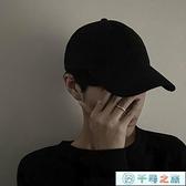 帽子男版時尚黑色鴨舌帽軟頂日系棒球帽百搭休閑秋冬【千尋之旅】