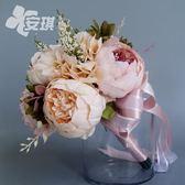 仿真花束拍照道具復古婚禮新娘手捧花【不二雜貨】