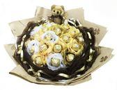 娃娃屋樂園~當我愛上你-21朵花朵金莎花束 每束1200元/情人節花束/生日禮物/教師節花束