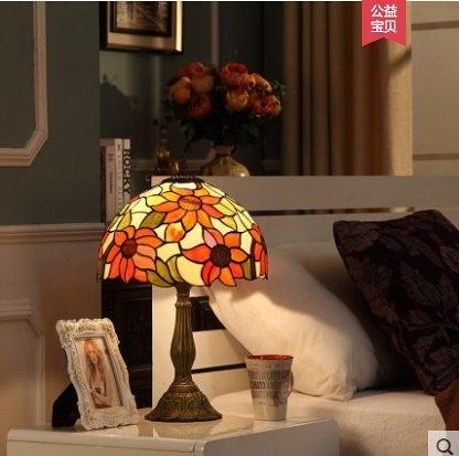 特惠 宜軒歐式檯燈客廳書房新婚房巴洛克創意家用可調光臥室床頭櫃燈(不送光源)