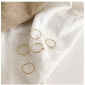 戒指網紅個性尾戒簡約冷淡風戒指女ins潮珍珠食指戒時尚個性套裝指環 春季新品