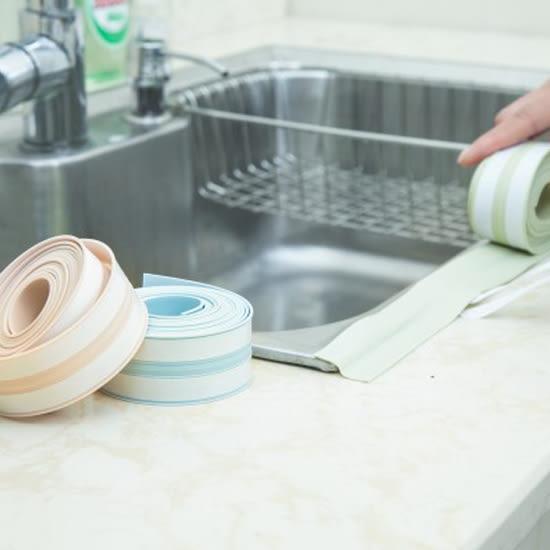 ♚MY COLOR♚廚房水槽縫隙防汙條邊條 防塵 防油 居家 水槽 防霉 防水 密封 膠條 黏貼【T14-2】