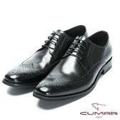 CUMAR 英倫紳士 雅痞時尚牛津皮鞋-黑色