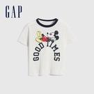 Gap男幼童 Gap x Disney 迪士尼系列純棉短袖T恤 698008-灰白色