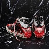 帆布鞋ins超火的鞋子ulzzang高筒帆布鞋男女bf港風韓版潮鞋塗鴉手繪板鞋春季新品