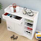 簡易鞋櫃收納大容量經濟型門口玄關簡約現代家用仿實木鞋架省空間 aj15071【花貓女王】