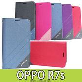 E68精品館  隱形磁扣皮套 歐珀 OPPO R7s 側翻支架 磨砂雙色 手機套 保護套 軟殼 矽膠殼 手機殼