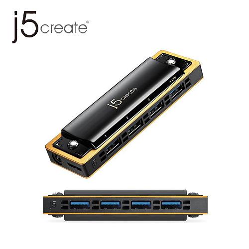 j5create  JUH345 USB 3.0 4-Port 口琴式集線器