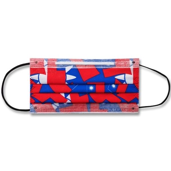 BNNxMASK 國旗成人平面防塵口罩(5片裝)【小三美日】
